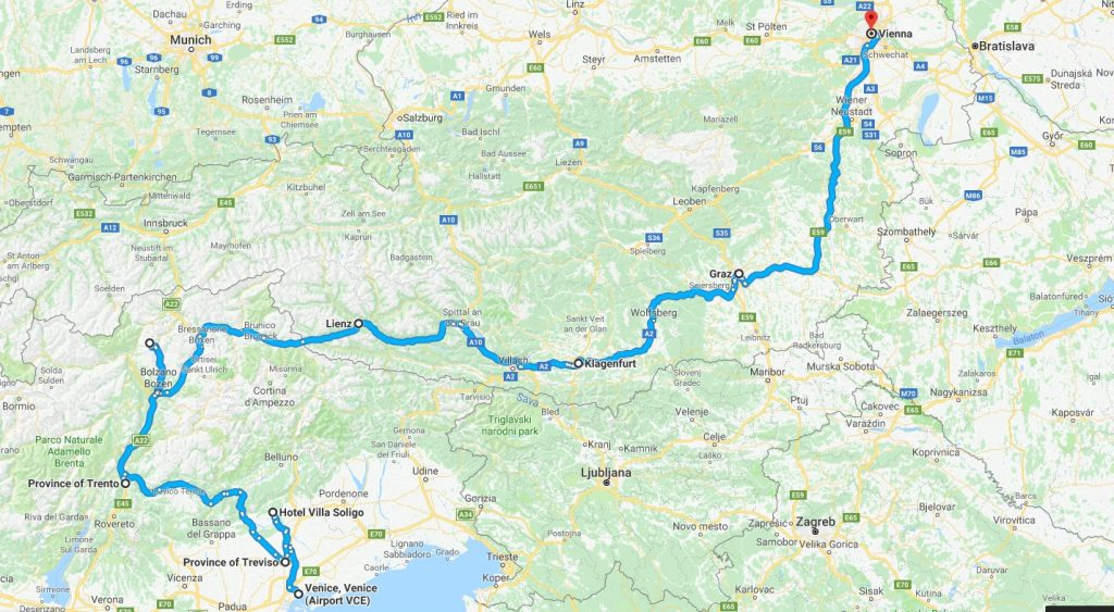 Venice to Vienna Tour